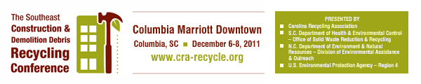 2nd Annual Southeast Construction and Demolition Recycling Conference Banner