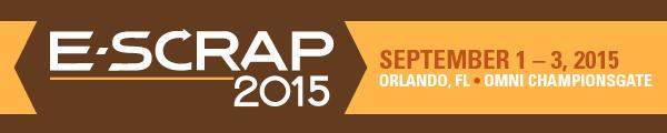 E-Scrap News Magazine: E-Scrap 2015: Save the Date