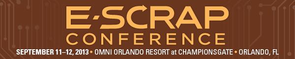 E-Scrap  Conference 2013 Banner
